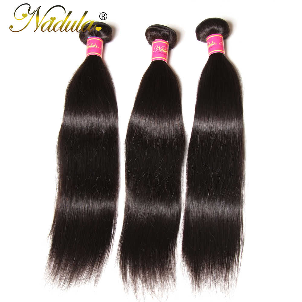 Nadula Hair Straight Bundles 3pcs or 4pcs/lot Cambodian Hair Weaves 100% Human Remy Hair Bundle Deals Free Shipping