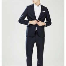 Free Shipping Hot Selling Slim Fit  Fashion Men's Business Suits Two Piece Suit Men Wedding Suits groom tuxedos(Jacket+Pants)