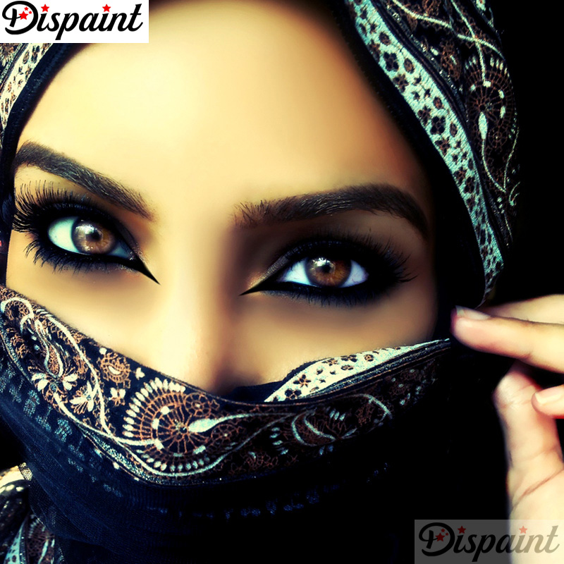 Dispaint Full Square Round Drill 5D DIY Diamond Painting quot Masked woman quot Embroidery Cross Stitch 3D Home Decor A11124 in Diamond Painting Cross Stitch from Home amp Garden
