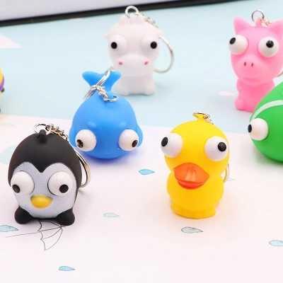 Brinquedo da novidade Produtos Telescópicos Olhos Animais Dos Desenhos Animados Figura de Ação Engraçado Joke Gadgets para Crianças Brinquedos Presente Beleza
