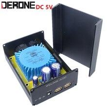 15VA تيار مستمر 5 فولت USB 5.5/2.1 الترا منخفضة الضوضاء الخطي موائم مصدر تيار ل XMOS dac ينظم إمدادات الطاقة الخطية