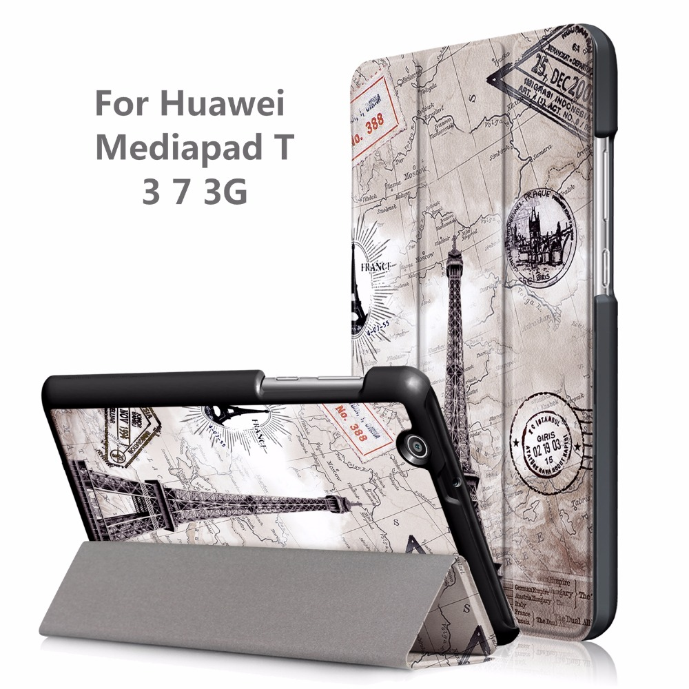 Cover Case for Huawei MediaPad T3 7 3G BG2-U01 2017 Release New Tablet Printed Case for Huawei MediaPad T3 7.0 3G + Gift faux leather 7 0for huawei mediapad t3 7 0 case for huawei mediapad t3 7 3g bg2 u01 tablet cover case