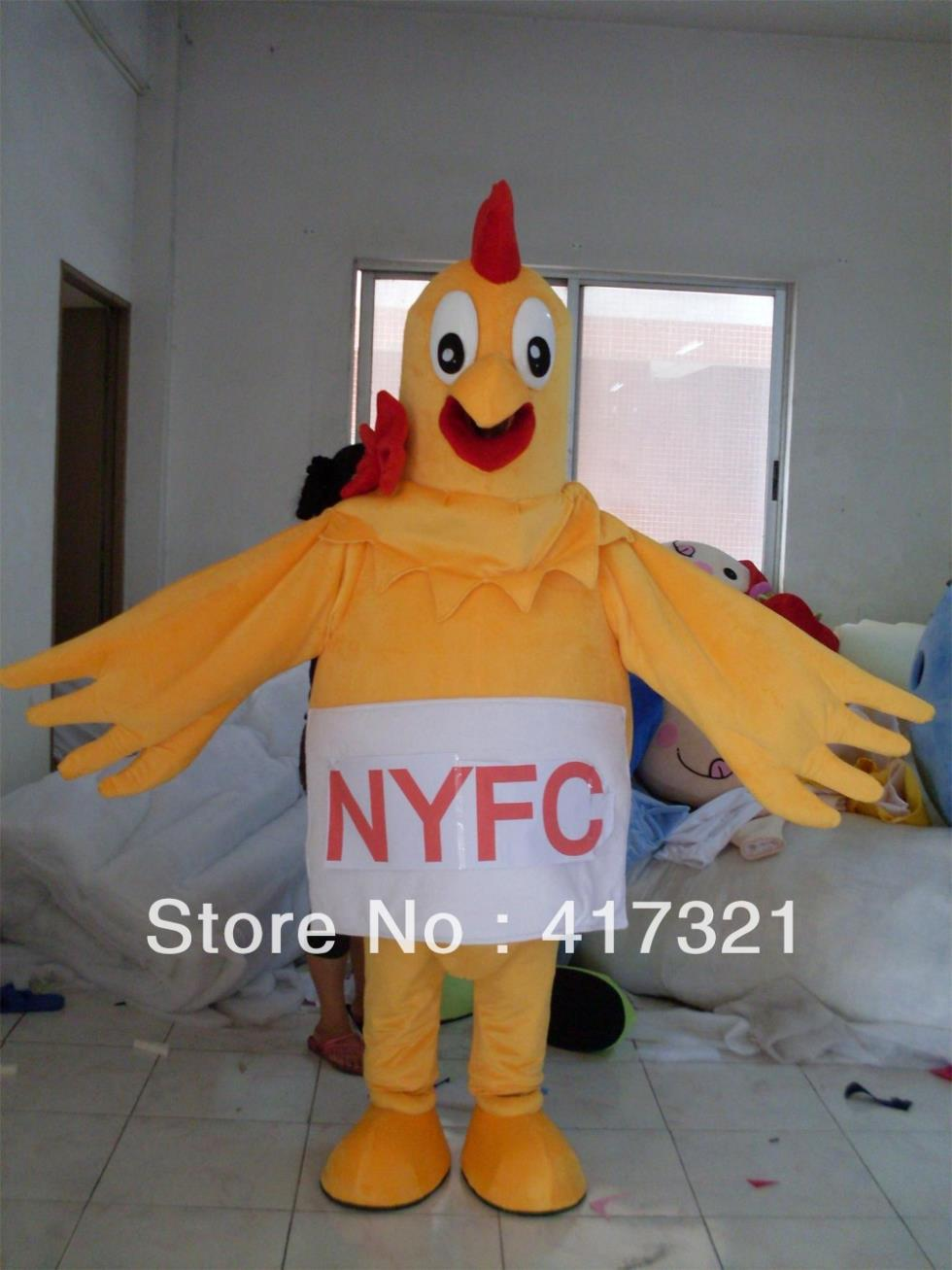 Costume mascot adult super chicken deluxe