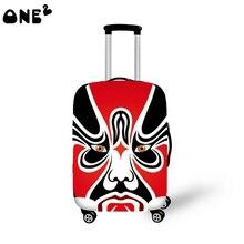 2016 ONE2 Design peking-oper muster druck abdeckung gelten 22,24, 26 zoll koffer bedeutenden chinesischen stil gepäck abdeckung