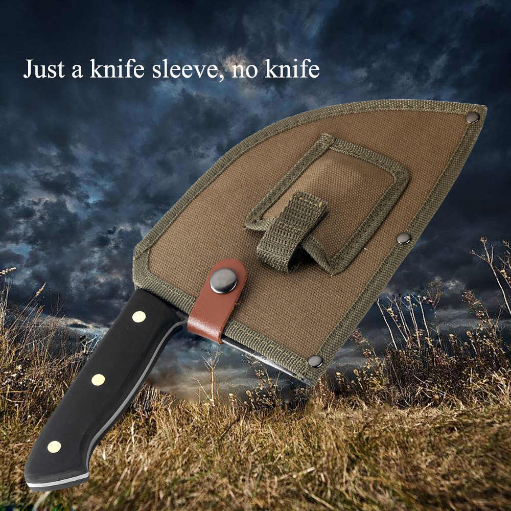 XITUO Kitchen Knives Sheath Cover Handmade Full Tang Chef Knife Case Wild Portable Cleaver Broad Butcher Knife Nylon Sleeve New