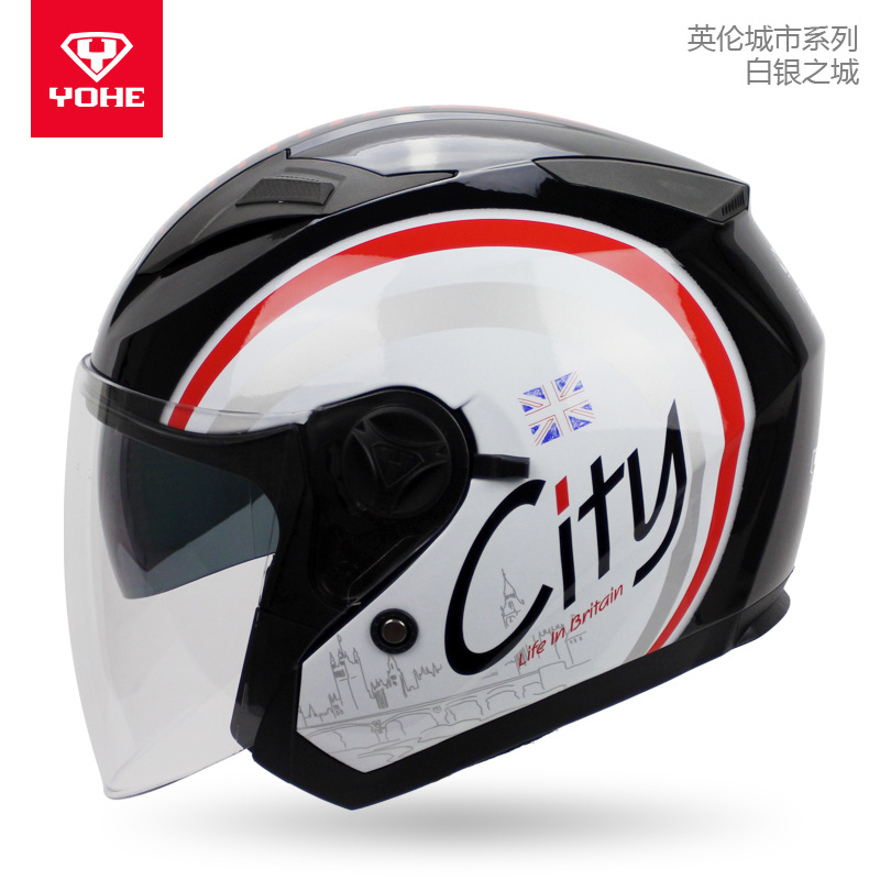 Genuine YOHE 868 Motorcycle Helmets Double lens Open Face Helmet Casco Motorcycle open face Helmet ...