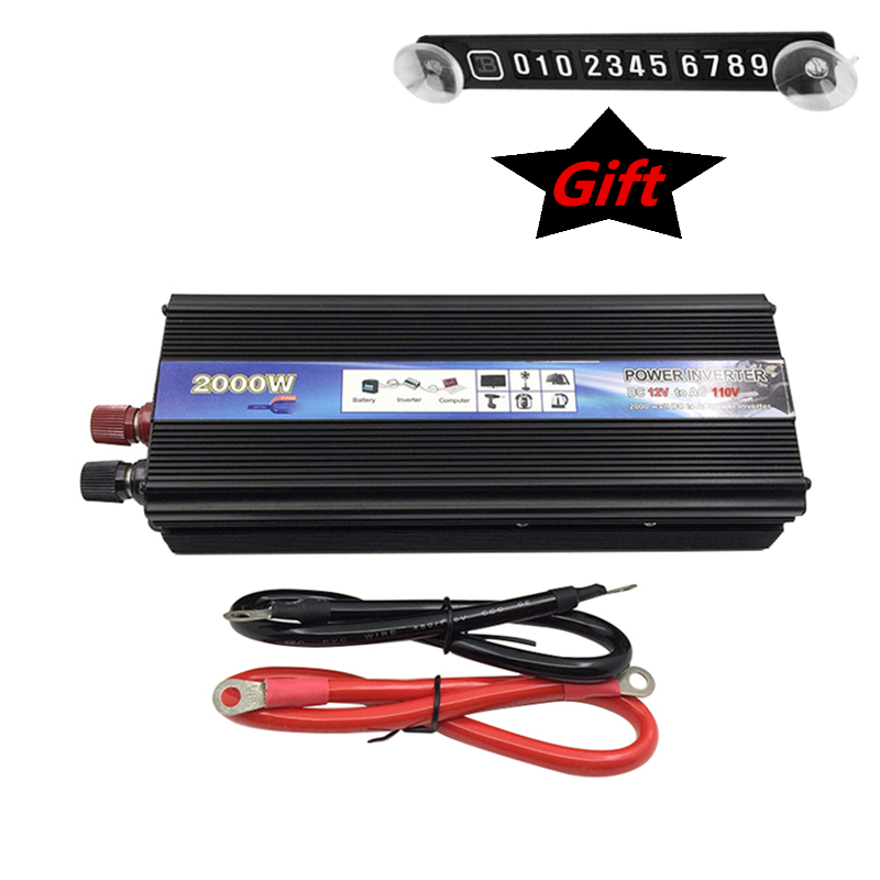 Car Inverter AC 220 110V 2000W Car Power Inverter Converter 12V 24 V to 220v Universal Socket Power Inverter Transformer professional 3000w power inverter dc 12v to ac 110v 220v with led indicator light fan cooling universal socket car converter