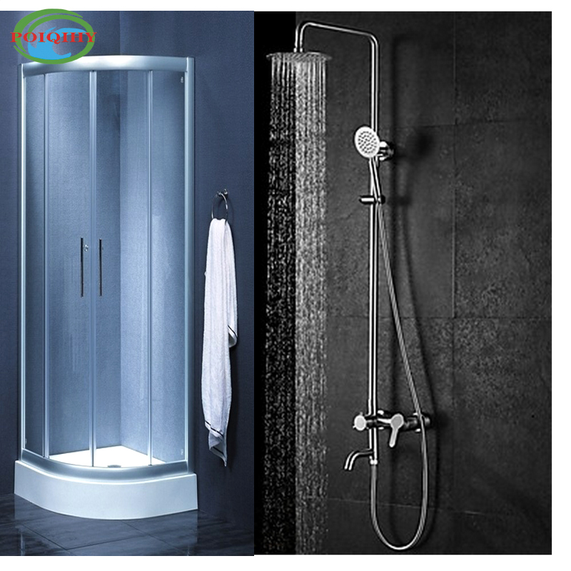 ⃝Luxury Bathroom Shower Mixer Tap Ultrathin Showerhead Hand Spray ...