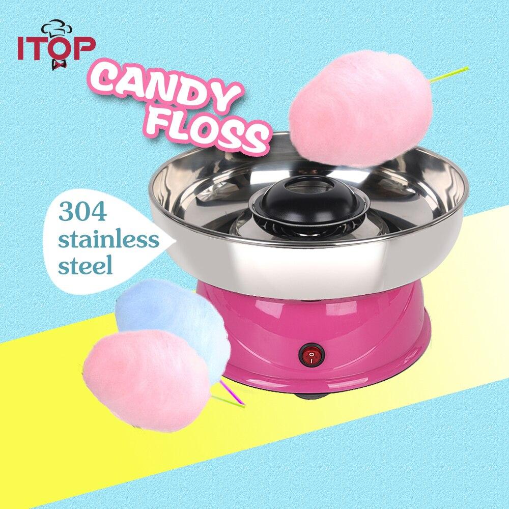 купить ITOP Mini Electric DIY Cotton Candy Maker Floss Spun Sugar Sweet Candy Floss Cotton Candy Machine For Childern Gift Sugar Maker по цене 5624.75 рублей