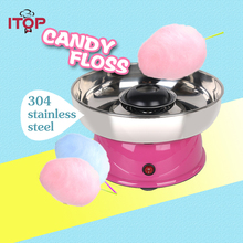 ITOP Mini Electric DIY Cotton Candy Maker Floss Sugar Sweet Candy Floss Cotton Candy Machine For Childern Gift Sugar Maker fancy gas cotton candy maker candyfloss diy sugar floss flower type commercial cotton candy machine stainless steel skt 1 220v