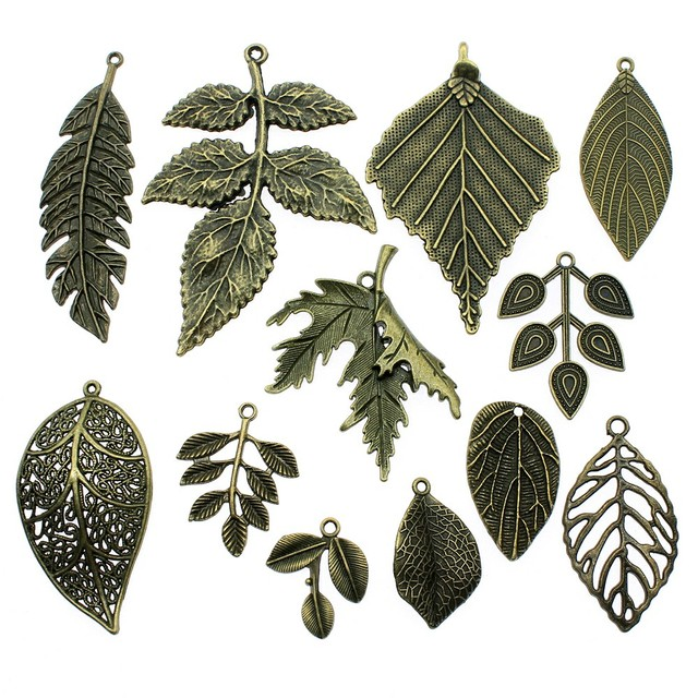 5pcs/lot Big Leaves Pendant Charms Antique Bronze Color Leaf Charms Jewelry Diy Big Tree Leaf Charms For Bracelet Making