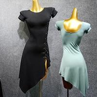 Women Latin Dress 2019 Dance Dress Comfort Modal Flamengo Rumba/Cowboy/Salsa Dress Practice Wear Training Dancing Clothes VDB494