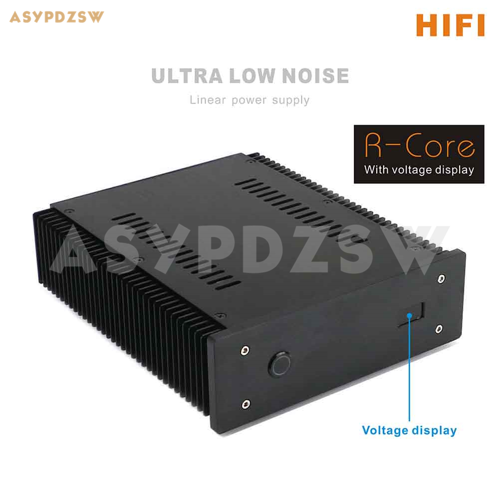 100VA Ultra low Noise LPS HI END R core Linear power supply / 100W PSU for audio DC5V 24V Optional With display