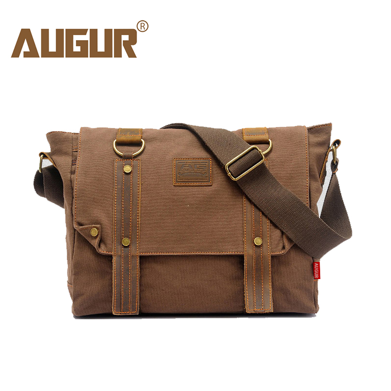 AUGUR Shoulder Bags For Men Casual Vintage Multifunction Trunk Men'S Business Messenger Bag Male Canvas Travel Crossbody Bag augur fashion men s shoulder bag canvas leather belt vintage military male small messenger bag casual travel crossbody bags