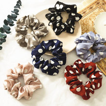 Women Elastic Hair Rope Ring Tie Scrunchie Ponytail Holder dots Band Headband soft and comfortable Apparel Accessories