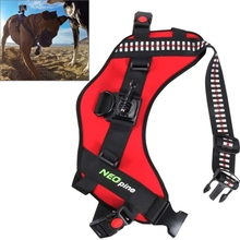 Action Camera For Go Pro Accessories NEOpine Dog Fetch Hound Harness Adjustable Chest Strap Belt Mount for GoPro HERO 5 4 3+ 3