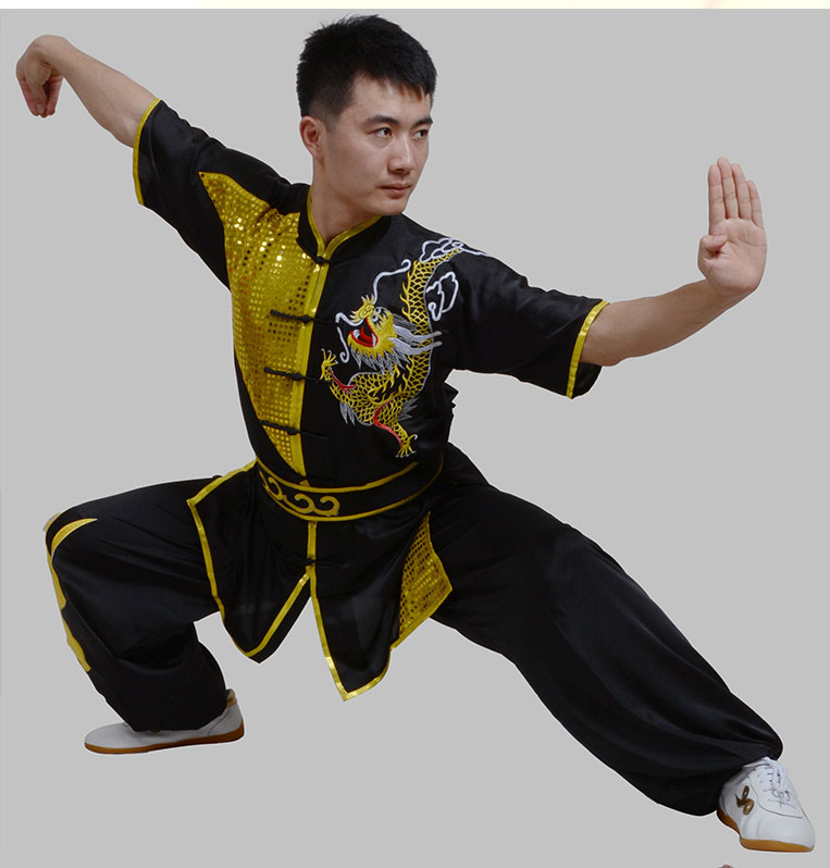 US $153 8 |[Oriental charm]Customize kungfu uniform short sleeve Changquan  Martial arts wushu competition performance clothing adult kids on