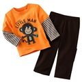 Monkey Baby Boys Sweatshirts Trouser Suits Children Clothes Sets 2017 Boys Tracksuit Sport Suit Long Sleeve T-Shirts Trouser Set