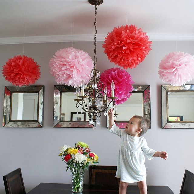 100pcs Large Tissue Paper Pompoms 18inch(45cm) Burgundy Color Paper