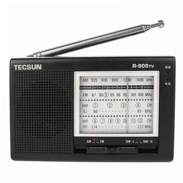 Tecsun R-909TV Радио FM/AM/УКВ Приемник Вещания 56-108 МГц Черный Портативный Fm-радио Y4156A