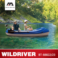 AQUA MARINA WILDRIVER New Rowing Boat Inflatable Fishing Boat 2 Persons Thickend PVC Fishing Paddle Boat With Motor