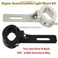 """1 1/5"""" 30mm Tube Forks Handlebar CNC Aluminum Headlight Mounting Bracket Custom Motorcycle Head Light Holder Lamp Bracket"""