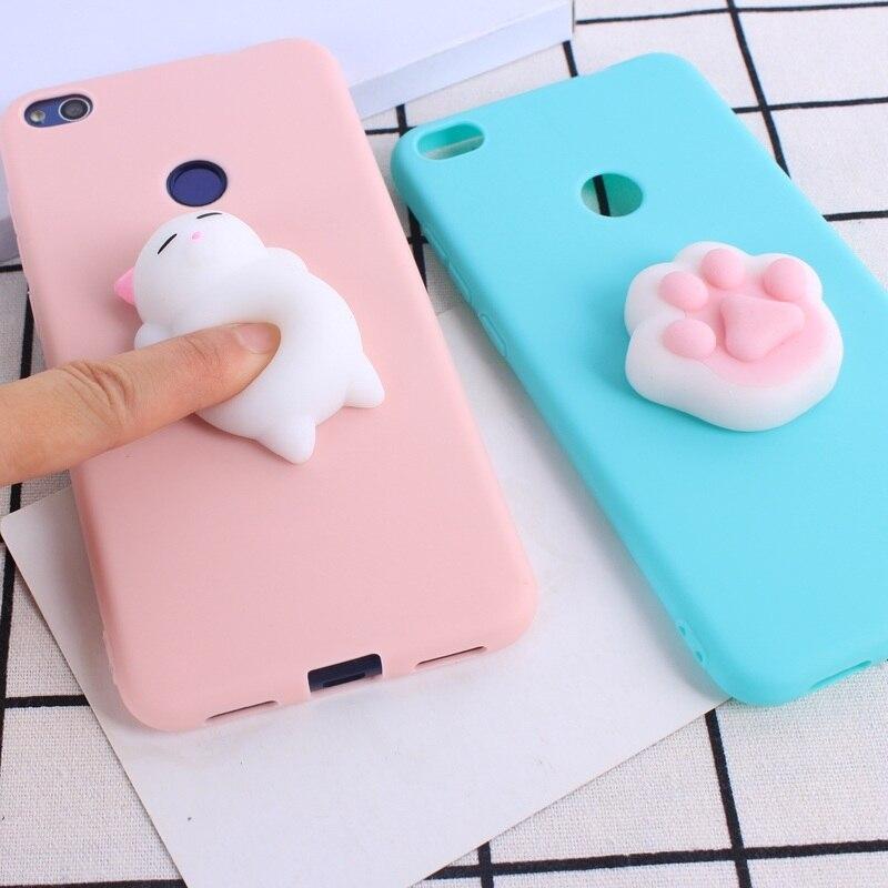 Silicon For Huawei Y5 Ii P8 Lite Y3 Y5 Cute Soft Silicone Squishy Cat Fundas Phone Case For Huawei P8 Lite P10 Lite