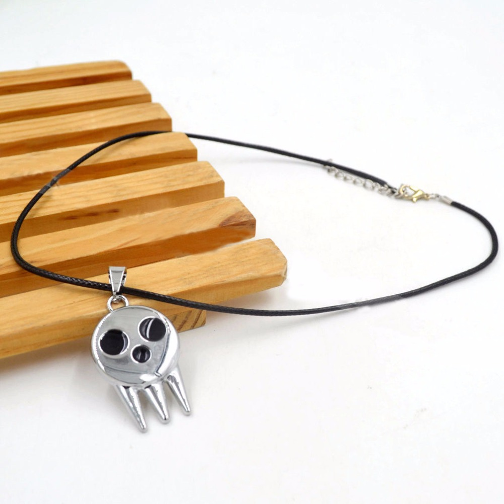 New For font b Anime b font Soul Eater Death The Kid Necklace Inspired Pendant font