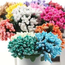 12pcs 9*6cm Pearl Berry Artificial Stamen Flower For Wedding Home Decoration Pistil DIY wreath Scrapbooking Craft Fake Flowers(China)