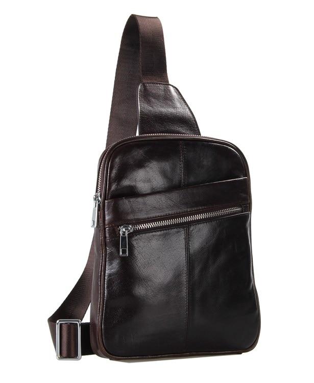 100 genuine leather men bag fashion casual high quality men chest pack shoulder bag messenger bag