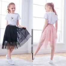 Girls Kids Dance Skirts Polyester Ballet Dress 3 layers Soft Yarn Daily Wear Dance Costumes