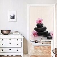 Корейский стиль 85*120 см 85x90 см орхидеи и камнями печати хлопок белье занавес двери наполовину занавес кофе украшение дома