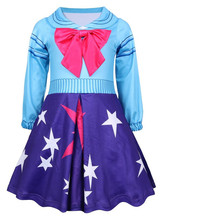 2019 Red bow  Girls Lol Dress Birthday Party Costumes Baby Girl Long-sleeve Costume A-line Full Sleeve Princess