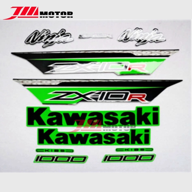 New arrival motorcycle whole vehicle 3m high quality decals stickers for kawasaki ninja zx10r zx