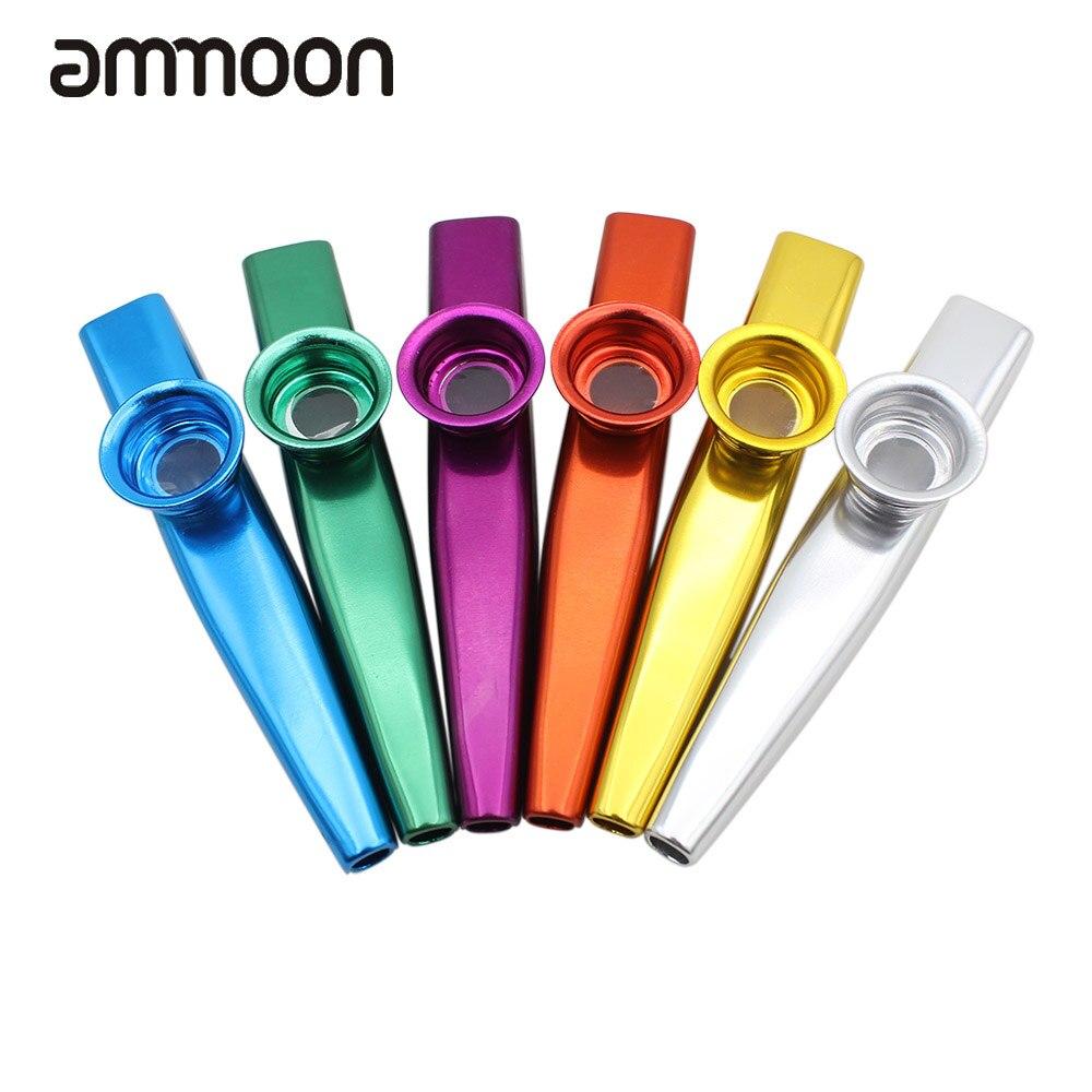 azul F Fityle Flauta Kazoo Submarina de Metal de Aleaci/ón de Aluminio con Diafragmas Regalo de Juego Divertido 6 Colores