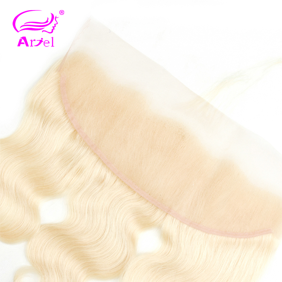 Image 5 - Brazilian Body Wave Frontal Closure 613 Frontal Closure Blonde Transparent Frontal 13x4 Remy Ear To Ear Lace Frontal Closure-in Closures from Hair Extensions & Wigs