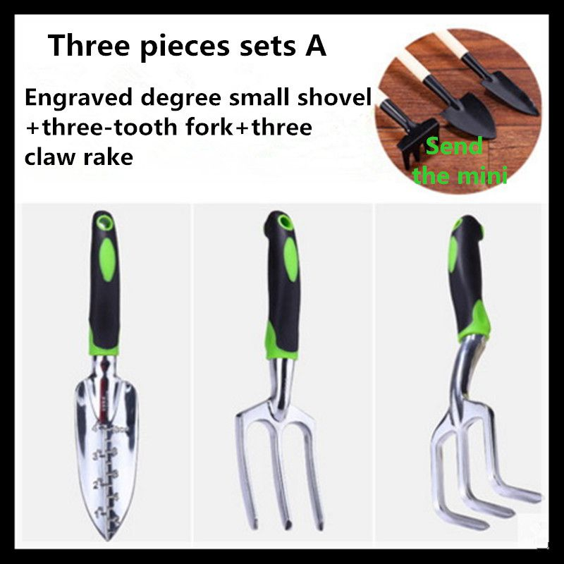 ФОТО Garden tools, gardening tools, garden tools (three pieces sets A)