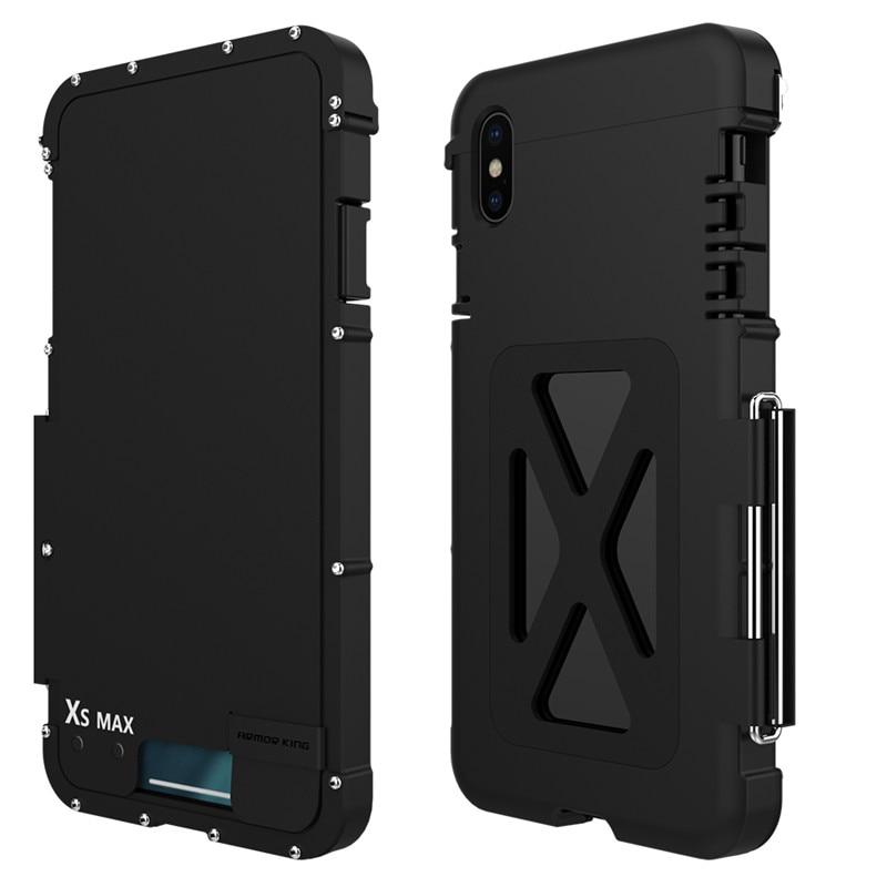 Металлический флип чехол R just из нержавеющей стали для samsung Galaxy Note 9 8 S7 edge S10 Plus противоударный чехол для iphone XS XR MAX 8 Plus