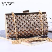 цена Gold Women Evening Bag Clutch Bolsas Mujer Wedding Party Bags Diamond Rhinestone Clutches Crystal Bling Silver Clutch Bag Purses онлайн в 2017 году