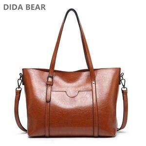 Image 1 - Didabear marca bolsa feminina bolsas de couro feminino luxo senhora mão sacos mensageiro bolsa de ombro grande tote sac a bolsa principal