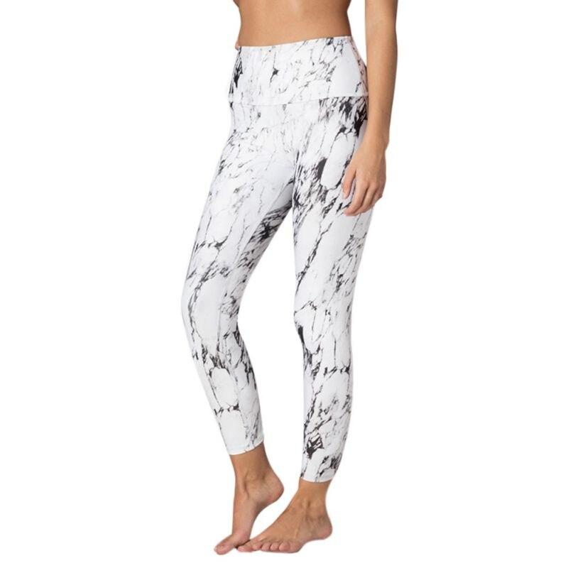 High Waist Fitness Push Up   Legging   Summer Marble Print Women Long   Leggings   Trousers Elastic Casual Female Slim Pencil Pant