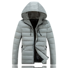 Autumn Winter Parka NEW Men Jacket Coat Outerwear Fashion Down cotton Padded Quilted Warm Male Jackets Hooded Casual Costume