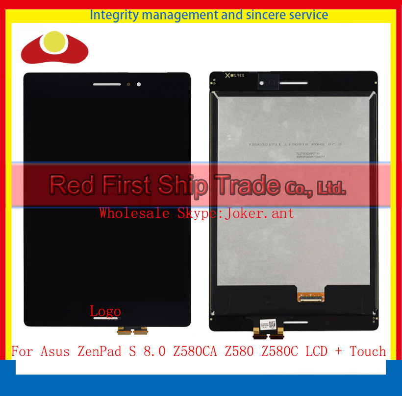 High Quality For Asus ZenPad S 8.0 Z580CA Z580 Z580C LCD Display Touch Screen Digitizer Sensor Assembly Complete Black White