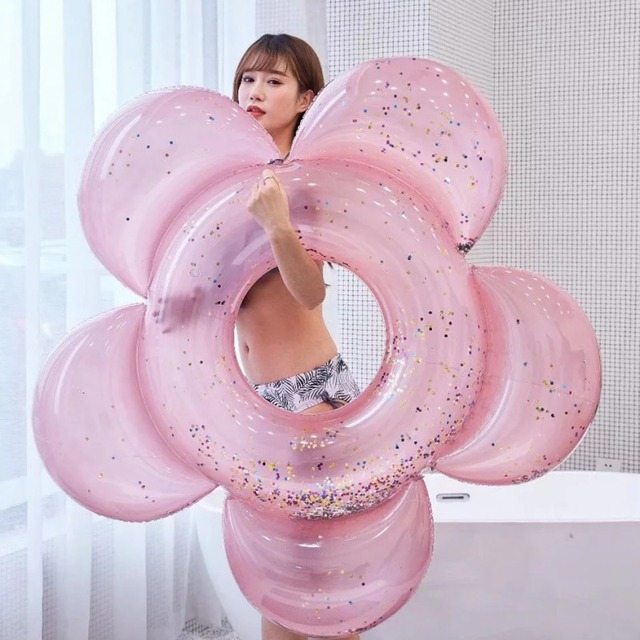 Adult Flower Type Neck Collar Swimming Ring Inflatable Neck Float for pool swimming safety