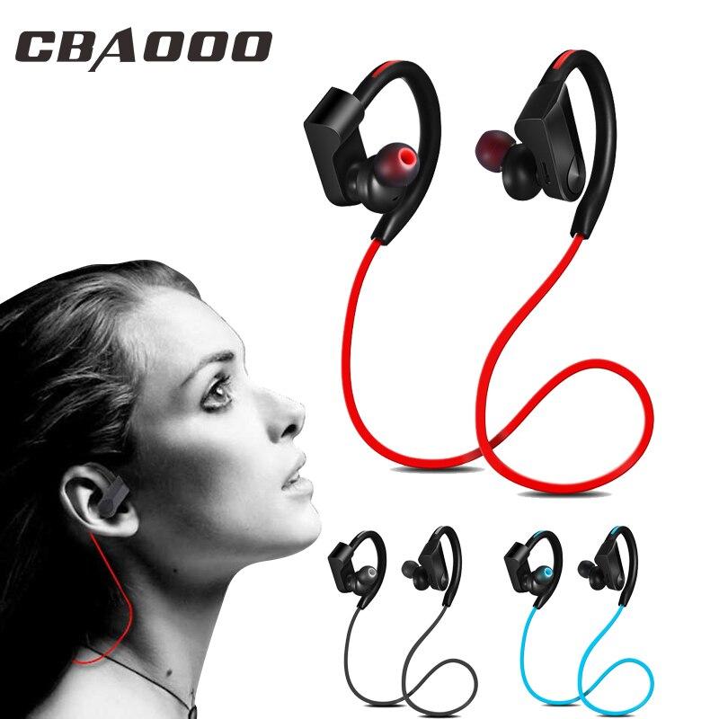 CBAOOO K98 אלחוטי אוזניות Bluetooth אוזניות ספורט ריצה אלחוטי סטריאו Bluetooth אוזניות אוזניות עם micr עבור טלפון