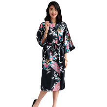 7d255a5445 Women Robe Summer Kimono Bathrobe Gown Female Sexy Sleepwear Nightgown  Casual Bride Bridesmaid Wedding Robe Noble