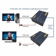 HSV373 20 ~ 60 кГц IR HDMI Over IP сетевой разветвитель Extender более CAT5e CAT6 RJ45 кабель 1080 P HDMI ethernet разгибателей до 150 м