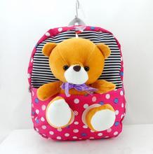 2017 children school bags cute infant walking wings backpacks cartoon bear for kid bags kindergarten mochilas