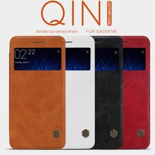 Nillkin QIN Series XIAOMI mi5 mi5s Flip Cover Case With Luxury Brand Use Fine Leather 360 Degree Protection For xiaomi mi 5 5s