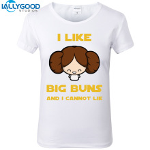 New Summer Harajuku Style Women T-shirts Cute woman I like large buns Letter Print Kawaii T shirts Women Casual White Tops S637